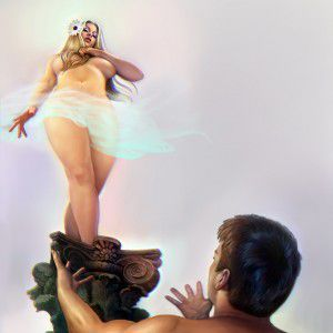 pedestal-woman